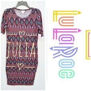 3 for $25NWT Lularoe Julia Maroon Geometric dress